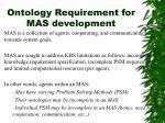 ontology requirement for mas development