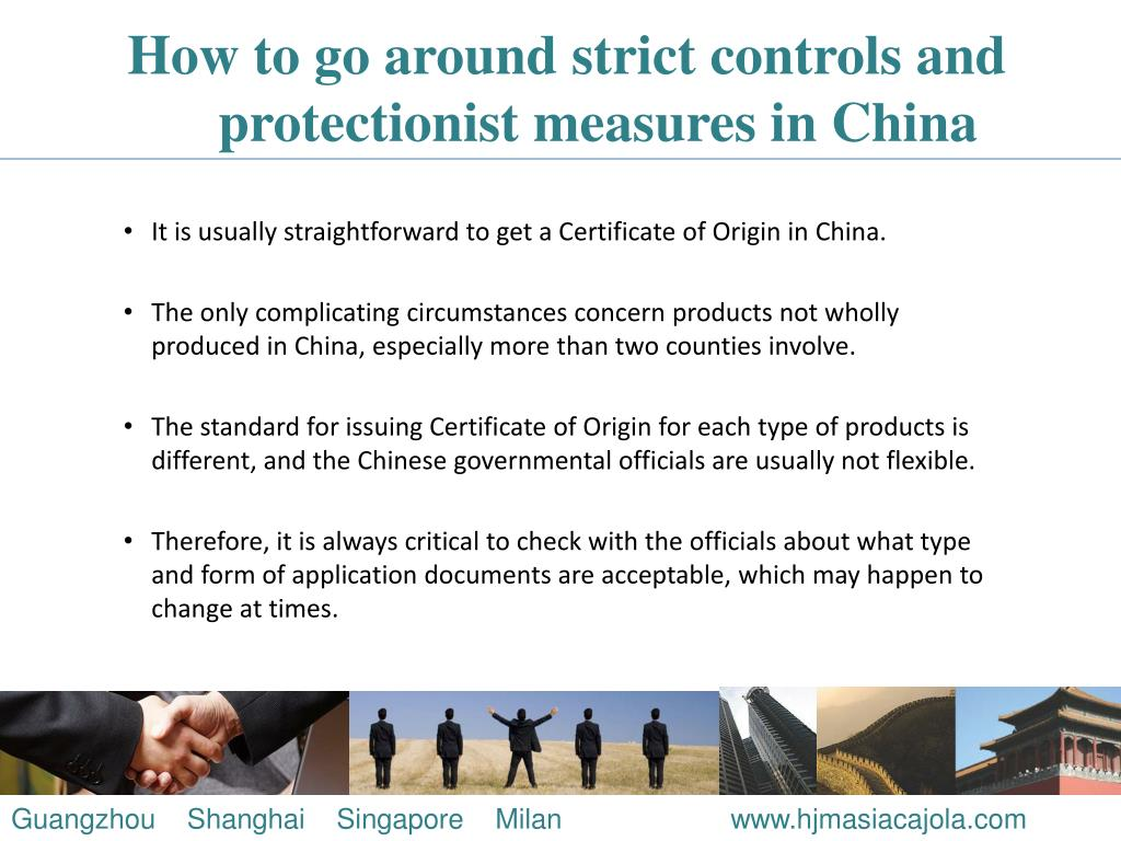 How to go around strict controls and protectionist measures in China