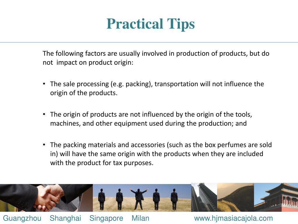 Practical Tips