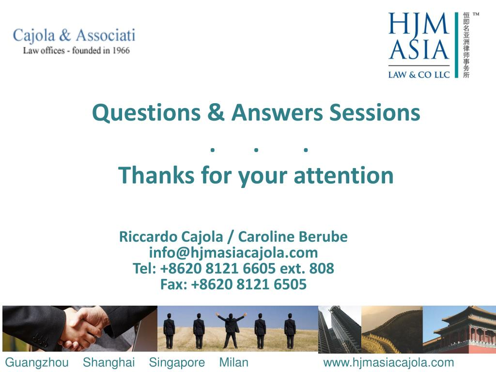 Questions & Answers Sessions