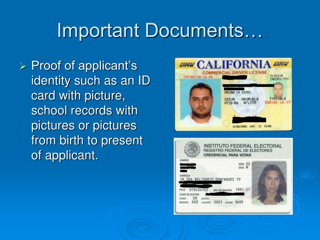Important Documents…