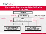 corporate structure and capitalization cdc ixis