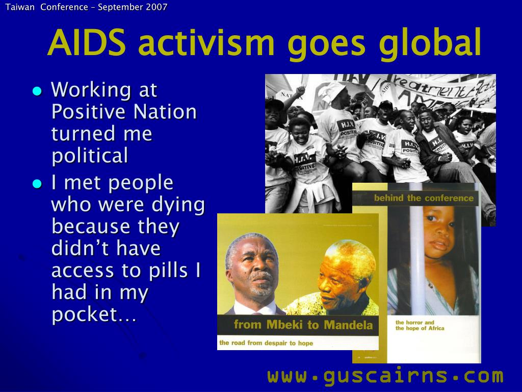 AIDS activism goes global