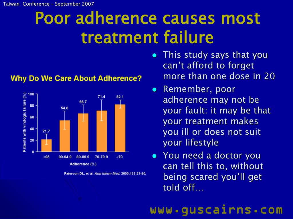 This study says that you can't afford to forget more than one dose in 20