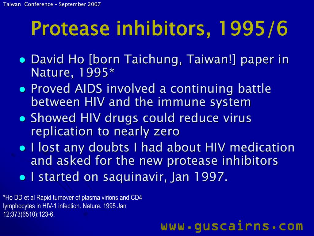 Protease inhibitors, 1995/6