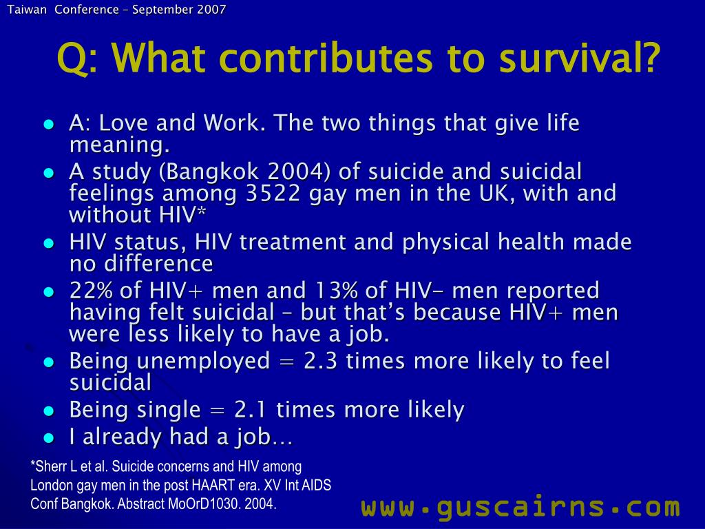 Q: What contributes to survival?