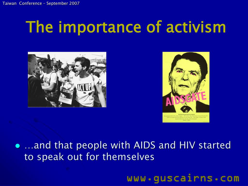 The importance of activism