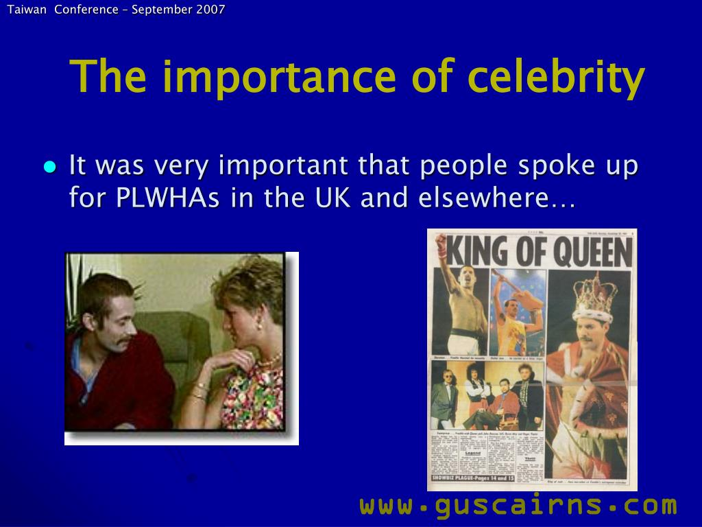 The importance of celebrity