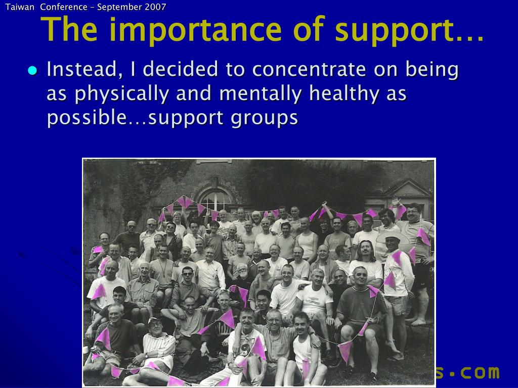 The importance of support…