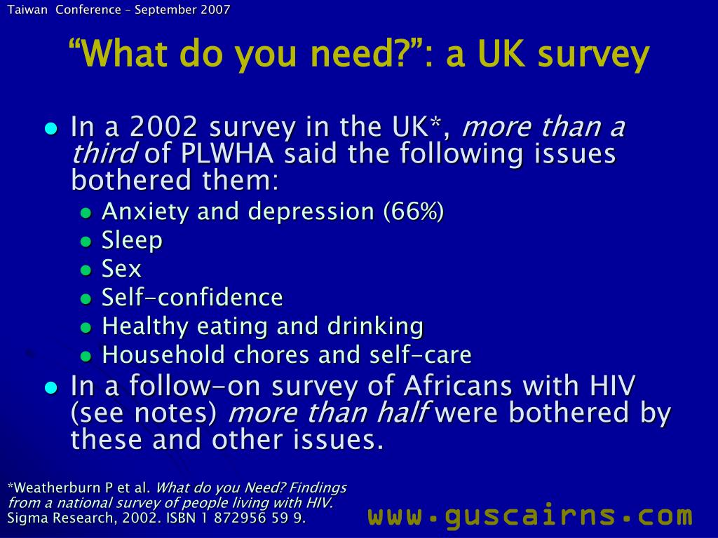 """""""What do you need?"""": a UK survey"""