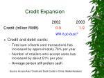 credit expansion