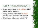 huge workforce unemployment