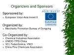 organizers and sponsors