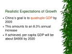realistic expectations of growth