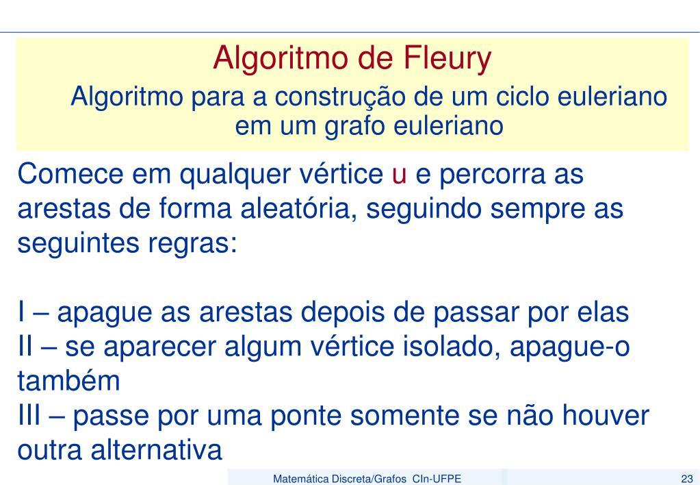 Algoritmo de Fleury
