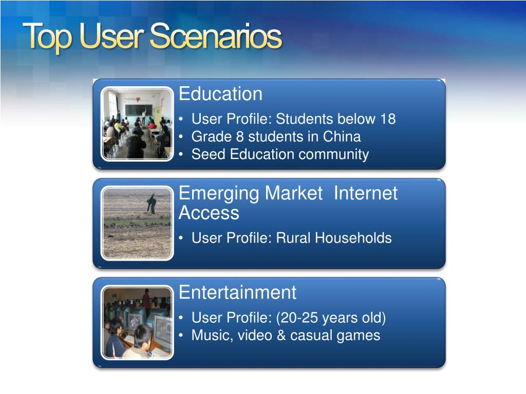 Top User Scenarios