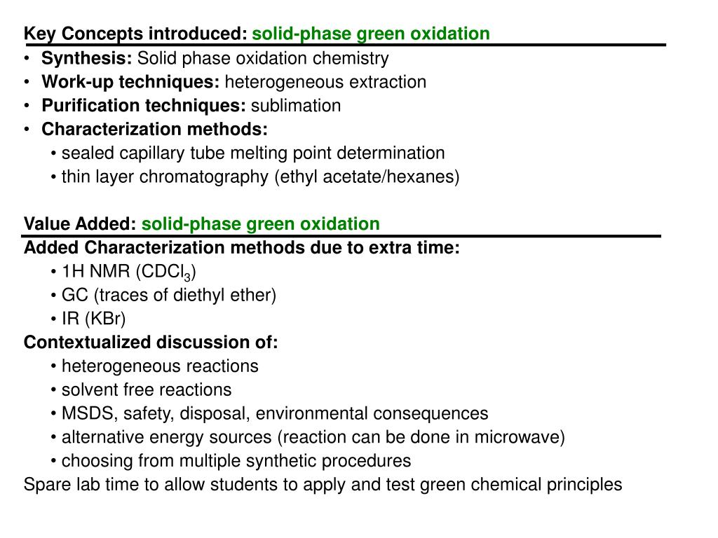 Key Concepts introduced: