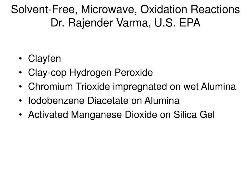 Solvent-Free, Microwave, Oxidation Reactions
