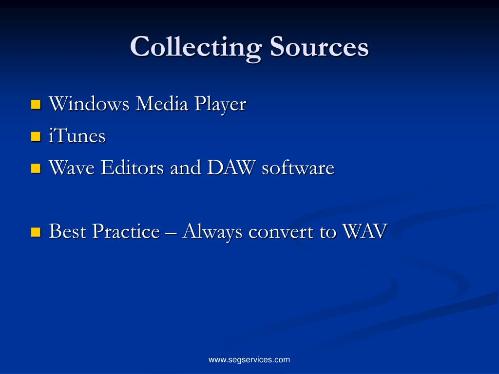Collecting Sources