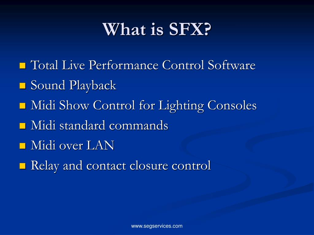 What is SFX?