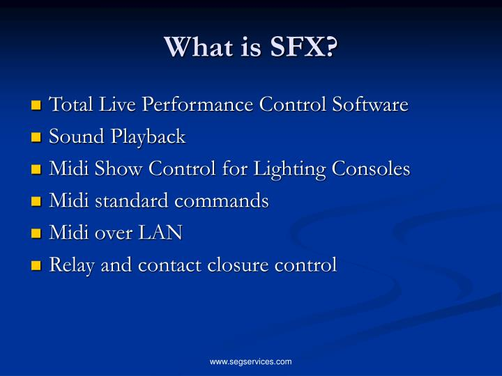 What is sfx