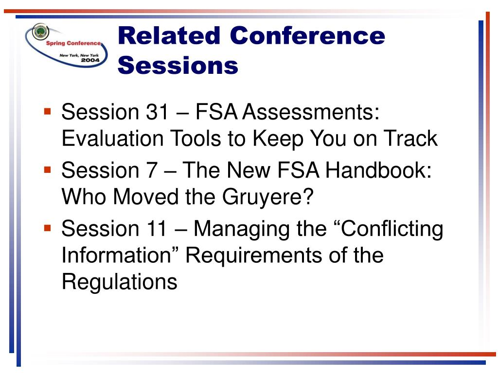Related Conference Sessions