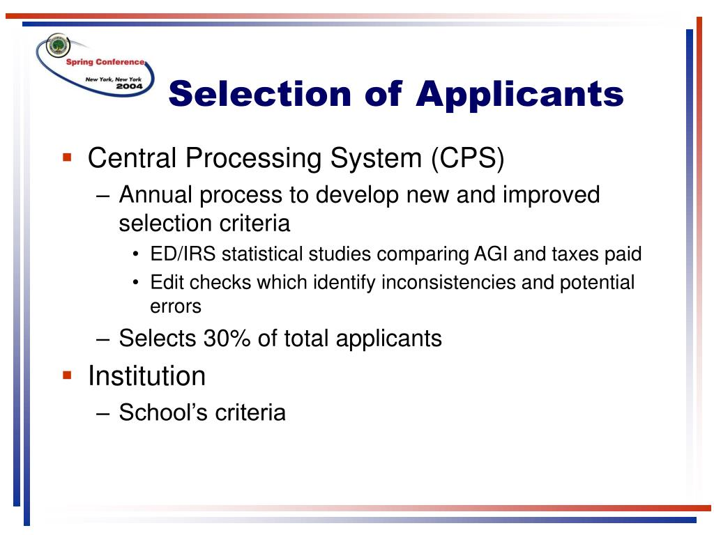 Selection of Applicants