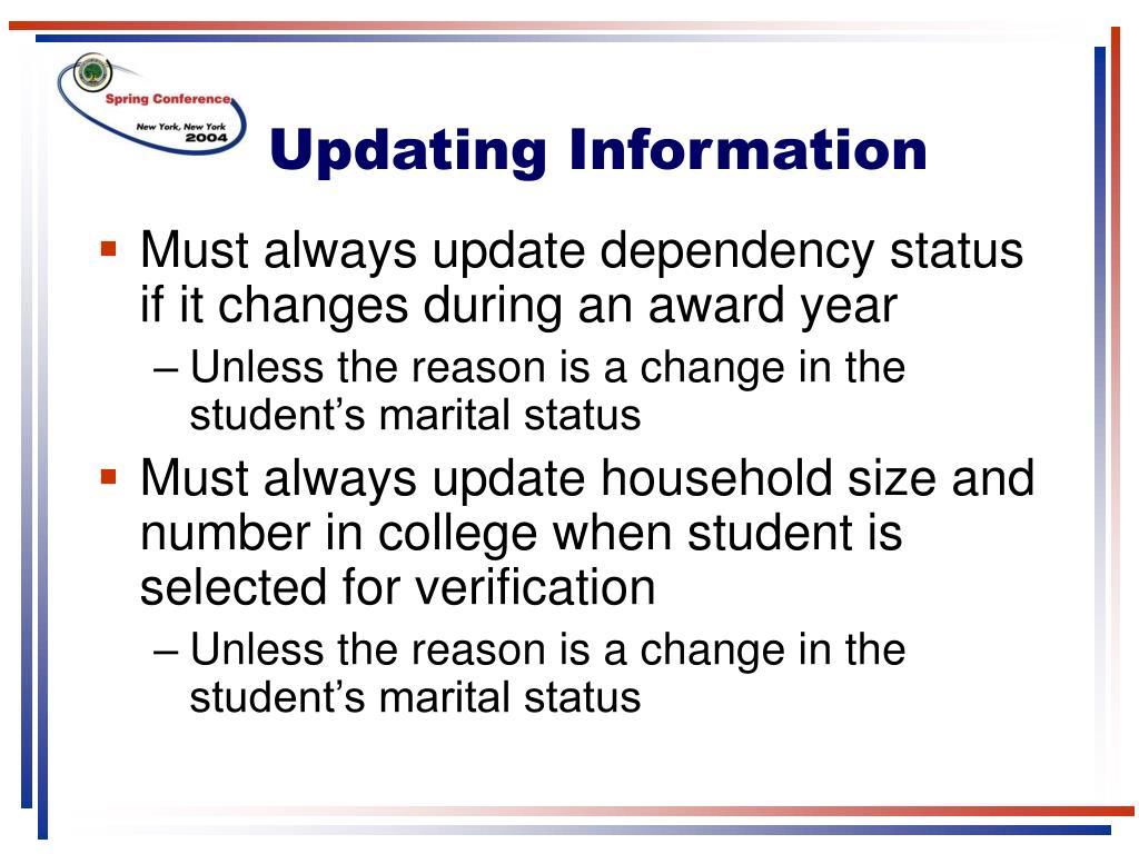Updating Information