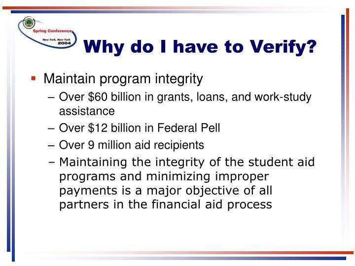 Why do i have to verify