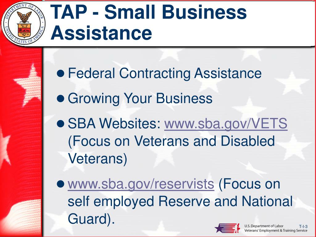 TAP - Small Business Assistance