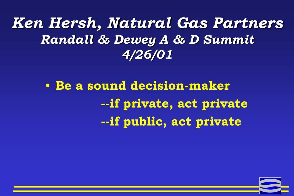 Ken Hersh, Natural Gas Partners