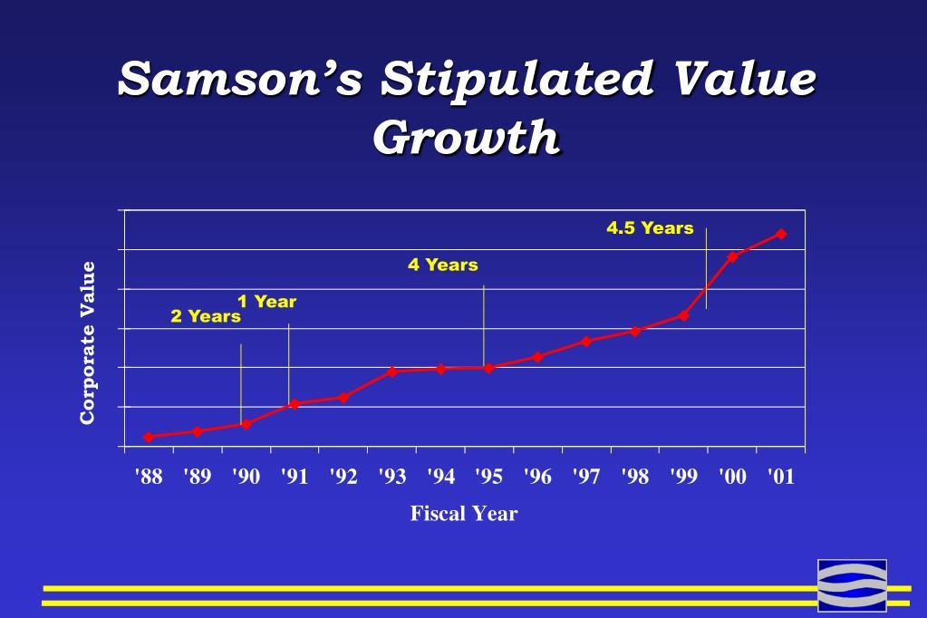 Samson's Stipulated Value Growth