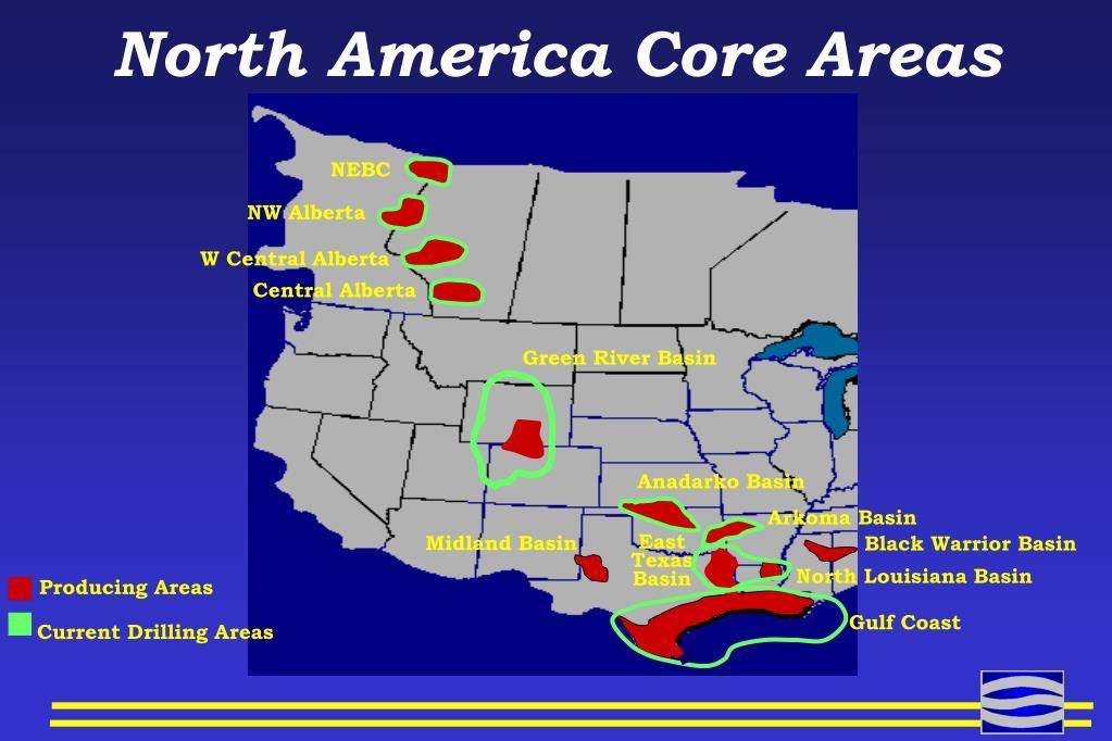North America Core Areas