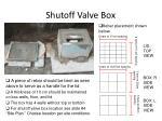 shutoff valve box