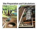site preparation and calculations