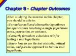 chapter 8 chapter outcomes