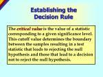 establishing the decision rule