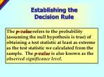 establishing the decision rule15