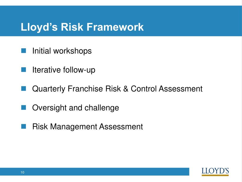 Lloyd's Risk Framework