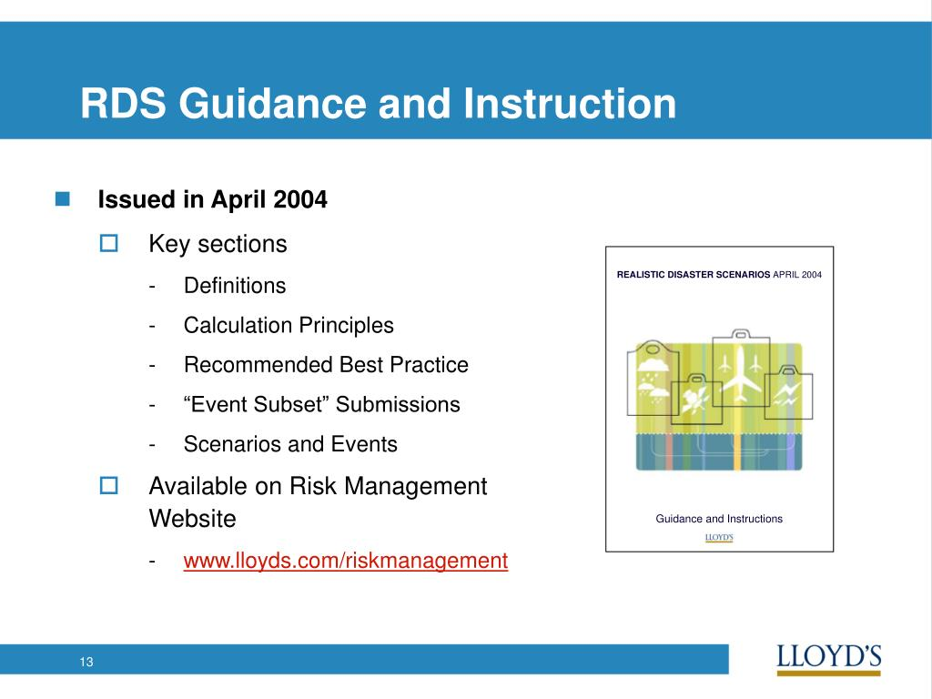 RDS Guidance and Instruction