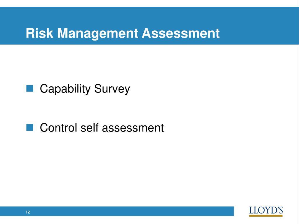 Risk Management Assessment