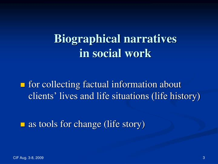 Biographical narratives in social work