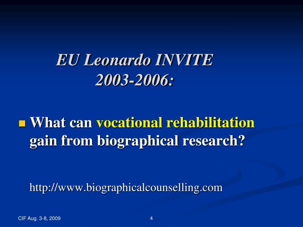 EU Leonardo INVITE