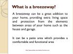 what is a breezeway
