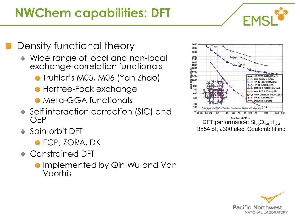 NWChem capabilities: DFT
