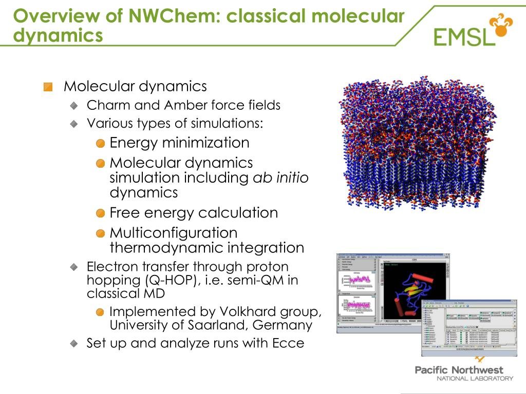 Overview of NWChem: classical molecular dynamics