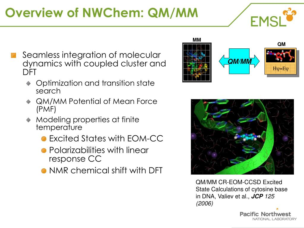 Overview of NWChem: QM/MM