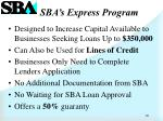sba s express program