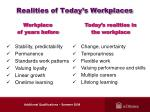realities of today s workplaces