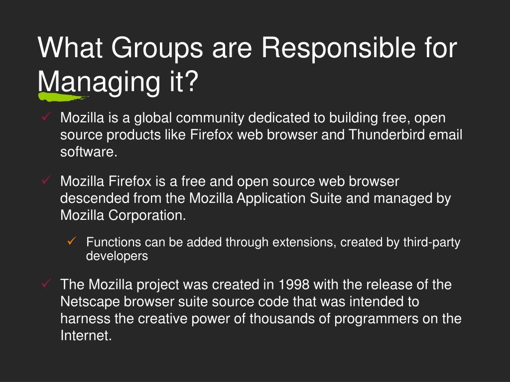 What Groups are Responsible for Managing it?